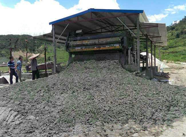 初步脱水后的矿产泥浆