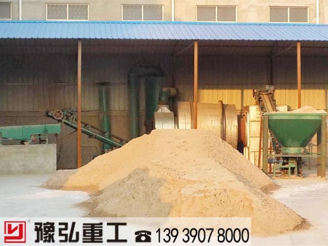 沙子三回程烘干机使用现场